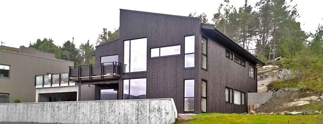 Nybygg hus i Ålesund